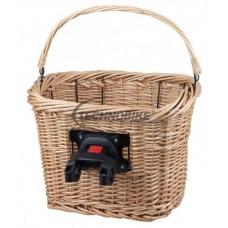 košík prútený na riadidlá s Clip-On